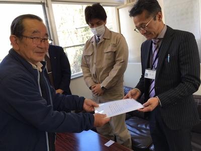 奈良市長宛に要望書を提出しました。